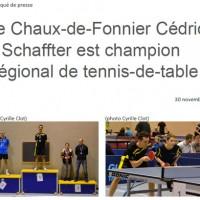 2015.11.30 Communiqué de presse - Cédric Schaffter est champion régional